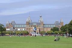 Квадрат на сумраке, Амстердам музея, Нидерланд Стоковое фото RF