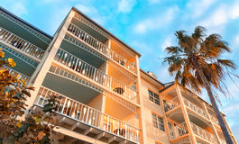 Квадрат на сумраке, Key West Mallory Стоковое фото RF