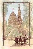 Квадрат около церков Стоковые Фотографии RF