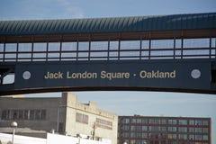 Квадрат Окленд Джека Лондона стоковая фотография rf