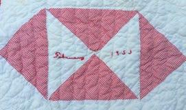 Квадрат 1953 лоскутного одеяла Стоковое фото RF