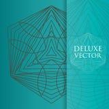 Квадрат приглашает шаблон Приглашение вектора с элементом дизайна мандалы Круглый орнамент цветка Декоративная винтажная печать Р Стоковые Изображения RF