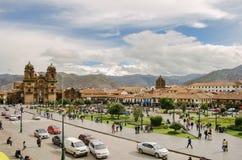 Квадрат ратника, Cusco стоковые фотографии rf