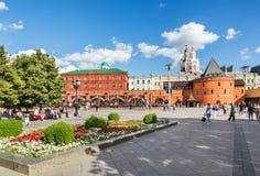 Квадрат революции, около Кремля moscow стоковое фото
