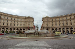 Квадрат республики Рима Стоковая Фотография