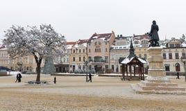 Квадрат рождественской ярмарки в Rzeszow, Польше Стоковая Фотография RF
