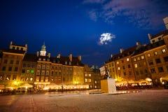 Квадрат рынка городка Варшавы старый Стоковое Фото