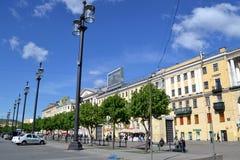 Квадрат сада в Санкт-Петербурге Стоковая Фотография RF