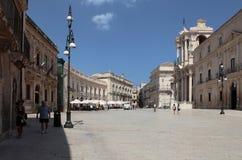 Квадрат собора syracuse Италия стоковое фото rf