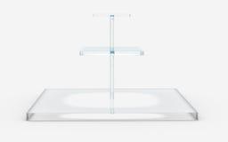 Квадрат стекла в стойке 3 ярусов Стоковая Фотография RF