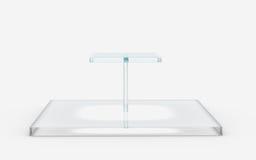 Квадрат стеклянной стойки ярусов Стоковое Фото