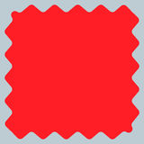 Квадрат с billowy краями Передернутая, деформированная квадратная рамка, bor иллюстрация штока