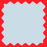Квадрат с billowy краями Передернутая, деформированная квадратная рамка, bor иллюстрация вектора