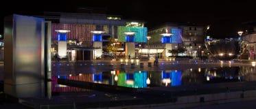 Квадрат тысячелетия в Бристоле на ноче Стоковые Изображения RF