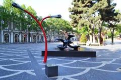 Квадрат фонтана Стоковые Изображения RF