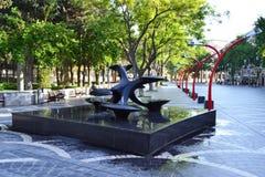 Квадрат фонтана Стоковое Фото