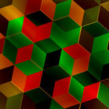 Квадрат фрактали абстрактный Иллюстрация вектора