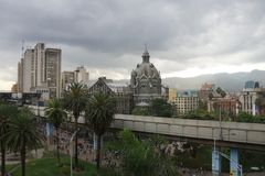 Квадрат Botero в Medellin Колумбии Стоковая Фотография RF