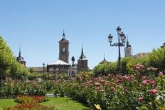 Квадрат Cervantes, Alcalá de Henares Стоковые Фото