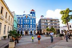 Квадрат de los Trabajadores площади в центре Camaguey Стоковые Изображения RF