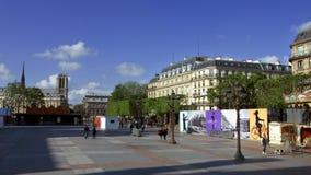 Квадрат de Ville гостиницы 15-ого мая 2016 в Париже, Франции сток-видео