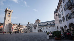 Квадрат Duomo в Trento, Trentino Альт-Адидже (Италия) Стоковое Фото
