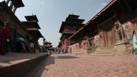 Квадрат Durbar в Patan акции видеоматериалы