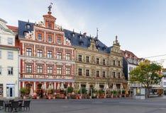 Квадрат Fischmarkt, Эрфурт, Германия Стоковое Фото