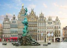 Квадрат Grote Markt, Antwerpen Стоковые Фотографии RF