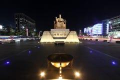 Квадрат Gwanghwamun в Сеуле, Корее Стоковое Фото