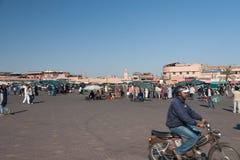 Квадрат Jemaa el-Fnaa Стоковые Фотографии RF