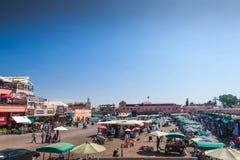 Квадрат Jemaa el-Fnaa Стоковые Фото