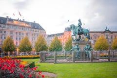 Квадрат Kongens Nytorv, Копенгаген стоковая фотография rf