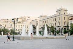 Квадрат Kotzia в Афинах стоковое изображение rf