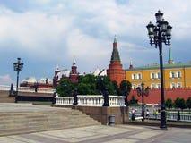 Квадрат Manege и Москва Кремль Стоковые Фотографии RF
