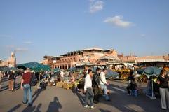 квадрат marrakesh fna el djemaa Стоковые Фотографии RF