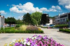 Квадрат Masaryk в Letovice, чехии Стоковое фото RF