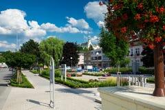 Квадрат Masaryk в Letovice, чехии Стоковое Фото