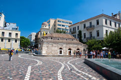 Квадрат Monastiraki 4-ого августа 2013 в Афинах, Греции. Стоковые Фотографии RF