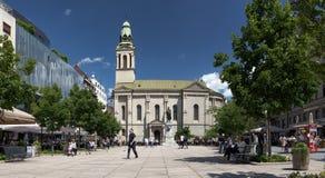 Квадрат Petar Preradovic в Загребе, Хорватии Стоковое Фото