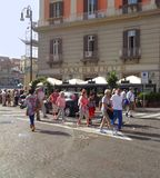 Квадрат Plebiscito s, Неаполь - Италия Стоковое фото RF