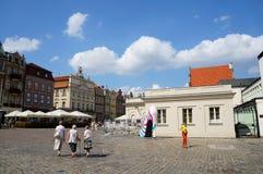 Квадрат Poznan старый Стоковая Фотография