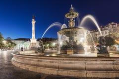 Квадрат Rossio, Лиссабон стоковые изображения rf