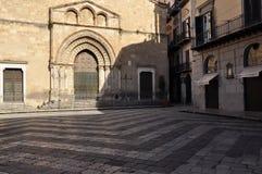 Квадрат san Francesco аркады Палермо Италия Сицилия Стоковая Фотография