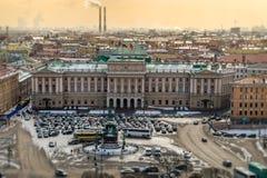 Квадрат St. Исаак на Санкт-Петербурге стоковое изображение