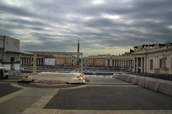 Квадрат St Peter в Ватикане Стоковое фото RF