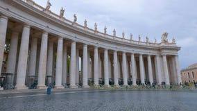Квадрат St Peters в Риме на государстве Ватикан стоковое изображение