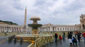 Квадрат St Peters в Риме на государстве Ватикан стоковое изображение rf