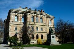 Квадрат Strossmayer с статуей католического епископа Zagreb Croatia политика Стоковые Фотографии RF