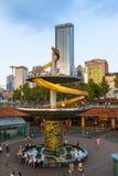 Квадрат Tianfu Чэнду, Китая стоковая фотография